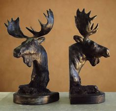 Moose Bookends available at AllSculptures.com