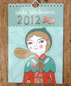 Illustrated calendar list via @pikaland: Anke Weckmann