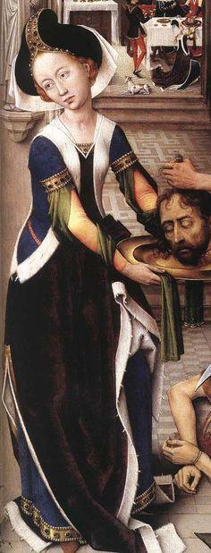 Rogier van der  Weyden, St John Altarpiece (detail)  1455-60