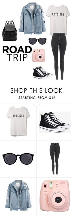"""On the road"" by somewhere-out-there ❤ liked on Polyvore featuring MANGO, Converse, Yves Saint Laurent, Topshop, Fujifilm and Witchery"