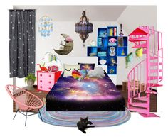 """""""My crazy Bedroom"""" by synkopika ❤ liked on Polyvore featuring interior, interiors, interior design, home, home decor, interior decorating, Mammut, WALL, Sentou and H&M"""