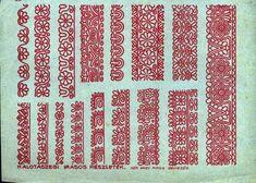 Hiánypótló a magyar motívumok gyűjteménye | Zacc Hungarian Embroidery, Folk Embroidery, Learn Embroidery, Embroidery Patterns, Geometry Art, Embroidery Techniques, Chain Stitch, Clip Art, Carving
