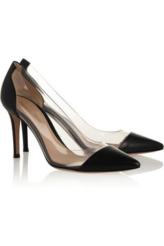 Gianvito Rossi | Leather and PVC pumps | NET-A-PORTER.COM