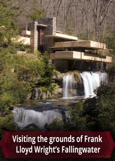 Frank Lloyd Wright's Fallingwater is located in the Laurel Highlands of Pennsylvania. Click to find out more information about visiting the grounds of this amazing home: http://uncoveringpa.com/visiting-grounds-fallingwater-pa