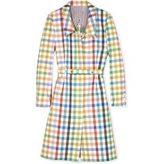 Thom Browne Popper Overcoat ($2,600) ❤ liked on Polyvore