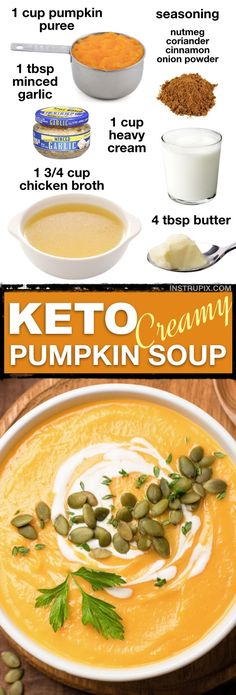 Personalized Graduation Gifts - Ideas To Pick Low Cost Graduation Offers 7 Easy Low Carb Soup Recipes Keto Friendly This Creamy Low Carb Pumpkin Soup Is Ketogenic And So Comforting Delicious Leftover Too Instrupix Low Carb Soup Recipes, Ketogenic Recipes, Lunch Recipes, Diet Recipes, Healthy Recipes, Casserole Recipes, Salad Recipes, Dessert Recipes, Pumpkin Soup Recipes