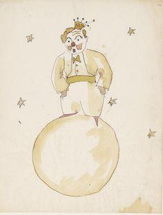 Ilustración de Antoine de Saint-Exupéry de El Principito