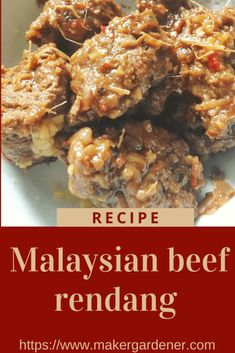 Classic Malaysian beef rendang home cook recipe from scratch. Gluten free recipe. A great winter warmer curry. #beefrendang