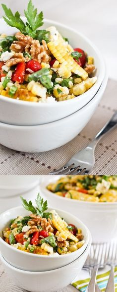 Grill Roasted Corn Salad