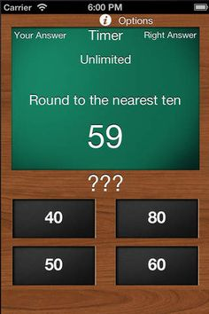 Rounding Whole Numbers ($0.00) Rounding whole numbers is an app designed to help the user improve their rounding skills. It is a great brain quiz game for adults or anyone else looking to improve their skills at rounding numbers.