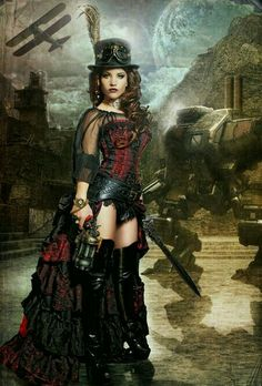 Steampunk Fashion / Woman / Dress / Corset / Jewelry / Goggles / Photography // ♥ More @lDarkWonderland