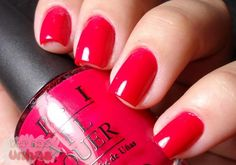 Dutch Tulip (Red Colour) OPI Dutch Tulips Always one of my favorite go to reds!OPI Dutch Tulips Always one of my favorite go to reds! Opi Nail Polish, Nail Polish Designs, Opi Nails, Nail Designs, Nail Polishes, Cute Pink Nails, Pretty Nails, Short Red Nails, Manicure