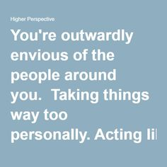 how to stop being envious of others