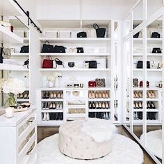 Olivia Culpo Shares an Exclusive Look at Her Wardrobe Makeover with Celebrity Closet Designer Lisa Adams The organization of Olivia Culpo's closet makes me happy. Closet design by Lisa Adams Walk In Closet Design, Closet Designs, Big Closets, Dream Closets, Dressing Room Design, Dressing Rooms, Dressing Room Closet, Wardrobe Makeover, Celebrity Closets