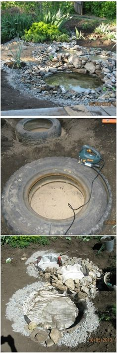 Making an Artificial Pond with Old Tires - DIY Tire Planters - Here is a project that uses an old car tire or tractor. This achievement will beautify your garden dramatically with little or no effort, none of what you see in this little guide is complicated. The entire work should take no more than ten hours divided into several days. Moreover, this project...