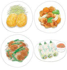 今井夏子 イラストレーションサイト | WORK #food #illustration #NatsukoImai
