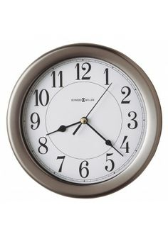 625 283 Aries Howard Miller Wall Clock Brushed Nickel Finish