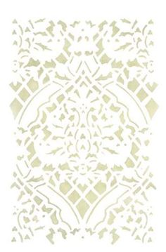 Large elegant damask wallpaper wall stencil to use in a larger space . Damask Wallpaper, Wall Wallpaper, Designer Wallpaper, Damask Wall Stencils, Brush Kit, Middle Ages, Painted Furniture, Your Design, Tapestry