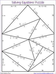 Worksheet Algebra Puzzle Worksheets definitions circles and the words on pinterest this puzzle puts a twist more traditional build rectangle