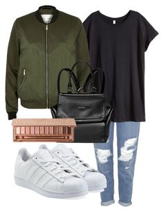 """Just an outfit"" by rowan-na-daw ❤ liked on Polyvore featuring Topshop, H&M, adidas Originals, River Island, Givenchy and Urban Decay"