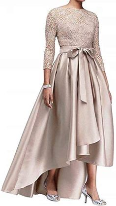 online shopping for kxry Women's High Low Plus Size Mother The Bride Dress Champagne Lace Formal Evening Prom Party Gown from top store. See new offer for kxry Women's High Low Plus Size Mother The Bride Dress Champagne Lace Formal Evening Prom Party Gown Sexy Dresses, Formal Evening Dresses, Elegant Dresses, Bride Dresses, Lace Dresses, Dress Lace, Dress Prom, Formal Dress, Prom Gowns