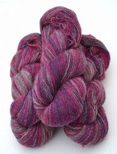 61 1 cerise lila gr melerad - Laine Lang Mille Colori Baby