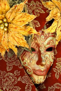 Classic Venetian mask. Tranquil and energy colors.