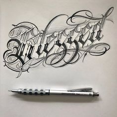 Tattoo Name Fonts, Tattoo Lettering Styles, Chicano Lettering, Graffiti Lettering Fonts, Hand Lettering Alphabet, Tattoo Script, Creative Lettering, Lettering Design, Letter Tattoos
