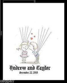 personalised fingerprint/balloon wedding tree guest book | eBay