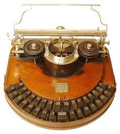 Collection of antique typewriters