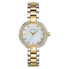 41ae6c37a6f Bulova Women s 98R172 Ladies Diamonds Quartz Two Tone Bracelet Watch -  BULOVA AUTHORIZED FACTORY REFURBISHED WITH