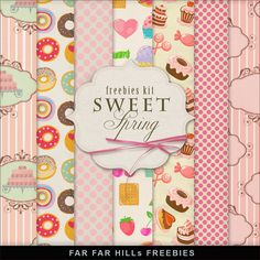 Far Far Hill - Free database of digital illustrations and papers: New Freebies Kit of Backgrounds - Sweet Spring