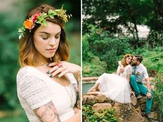 Brights & Lace styled shoot feature on @Greenweddingshoes photography by mintphotography Florals: | bricolage Venue | hummingbird house | Cake | polk a dots | Jewelry | chloe and isabel rentals | retrospective austin |