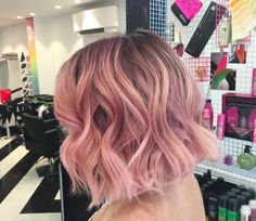 Image result for pink balayage hair