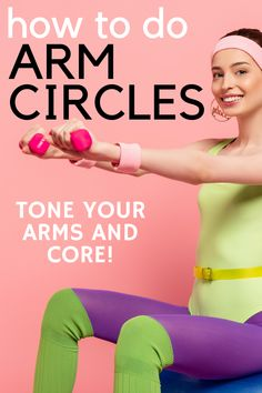 Weighted arm circles may seem like an easy exercise, but it's anything but that! This dumbbell exercise targets the core muscles, helping to tone the belly.