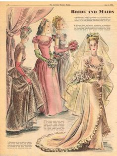 Bride and Maids Post War Era