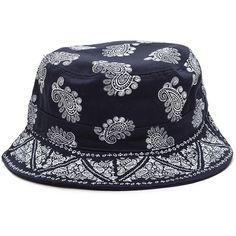 e6b3e0dcced Bandana Babe Bucket Hat NAVY ( 9.88) ❤ liked on Polyvore featuring  accessories