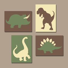 DINOSAUR Wall Art Canvas or Prints Boy DINOSAUR Theme Baby