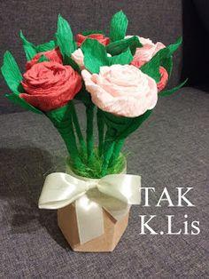 TAK - Twórczo Aktywnie Kreatywnie: Bukiecik z różami.