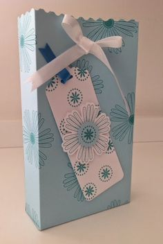 Paper gift box. I made this using Sam Donald's tutorial.