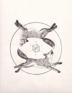 foxes tattoo idea