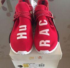 Adidas NMD x Pharrell Williams Human Race Red DS 7us / 6 1/2uk