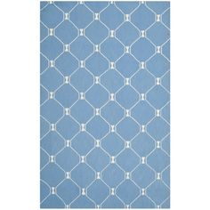 Isaac Mizrahi by Safavieh Island Lattice Blue Wool Rug (8' x 10')