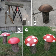 mushrooms for the play area