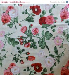 FLOWER SALE - Cotton Fabric,Qui,Home Decor, Clothing, Shabby Chic,Bouquet Moderne, South Sea Imports, Fast Shipping