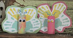 Crafts with Kids: Spring Handprint Butterflies - take some time out with the kids to make these cute butterflies!