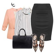plus size office fab in spring by kristie-payne on Polyvore featuring Jette, Allegra K, Zizzi, Valentino, Louis Vuitton, L. Erickson and Alexis Bittar