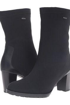ara Giuliana (Black Fabric) Women's Boots - ara, Giuliana, 44153-01, Footwear Boot General, Boot, Boot, Footwear, Shoes, Gift, - Street Fashion And Style Ideas