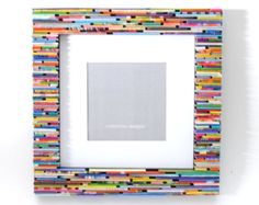 colorful 5x7 picture frame made from by colorstorydesigns on Etsy