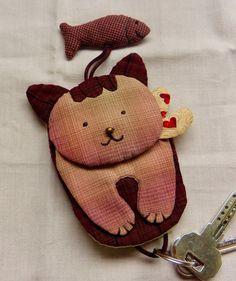 eskulanetan: Conjunto Eugénie y llavero gatito